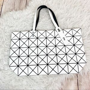 ISSEY MIYAKE BAOBAO White Tote Bag Geometric